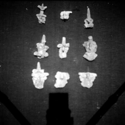 Vista de piezas cerámicas procedentes de Cholula
