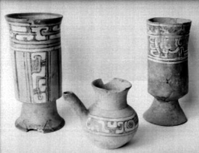Vasija y copas de Cholula