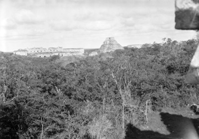 Vista panorámica de Uxmal