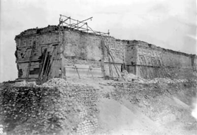 Casa del Gobernador, reconstrucción de la fachada lateral