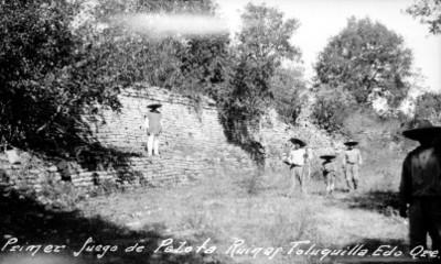 Primer juego de pelota, ruinas de Toluquilla, Querétaro