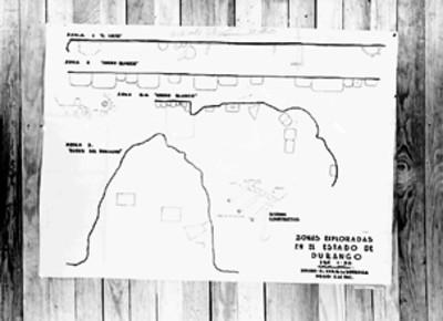 Dibujo de la estratigrafía de zonas arqueológicas