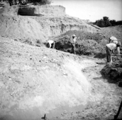 """Vista de las excavaciones del """"Edificio A"""" en Tamos"""