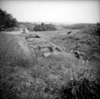 """Excavación del """"Ediificio B"""" en Tamos, vista parcial"""