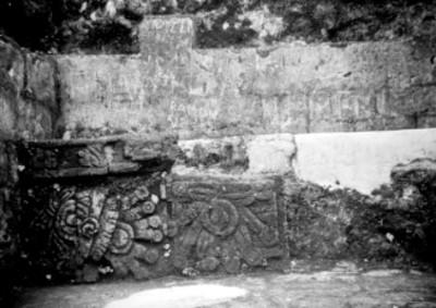 Banca con relieves escultóricos, detalle