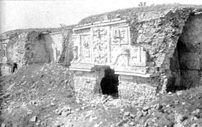 Cuadrángulo de las Monjas durante su restauración