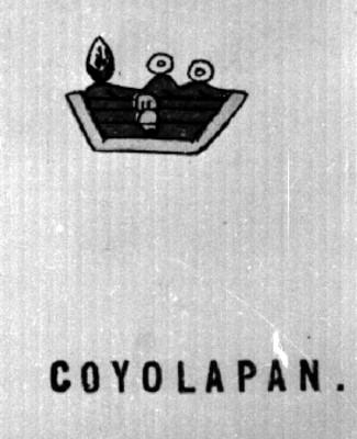 """Glifo de """"Coyulapan"""""""