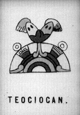 """Glifo de """"Teociocan"""", procedente del libro Nombres geográficos de México"""