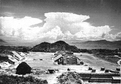 Vista panorámica de Monte Albán