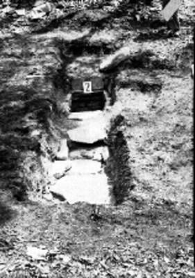 Tumba 2 en proceso de excavación