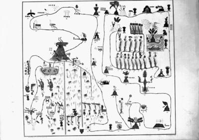 Mapa de Sigüenza, reproducción de litografía