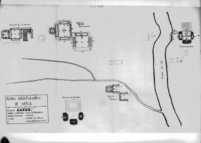 Plano arqueológico de Mitla