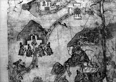 Escena contenida en el mapa de Cuauhtinchan N° 2, parte superior izquierda
