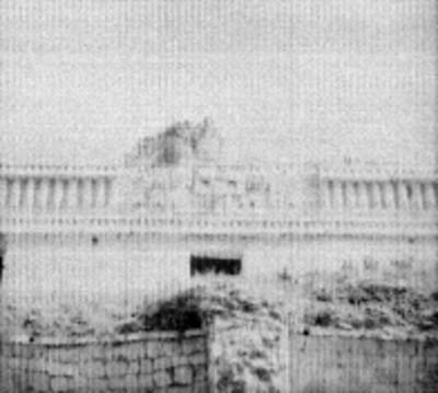 El Palacio, detalle de mascarón con representación del dios Chac
