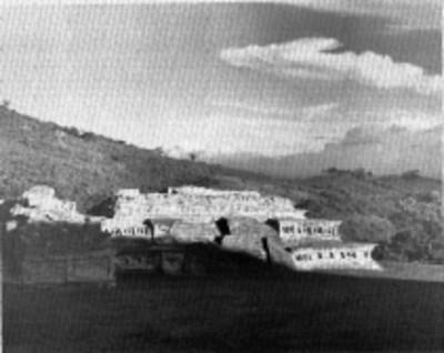 Vista del Edificio C, fachada frontal