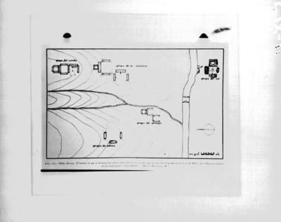 Mapa de Mitla, reprografía
