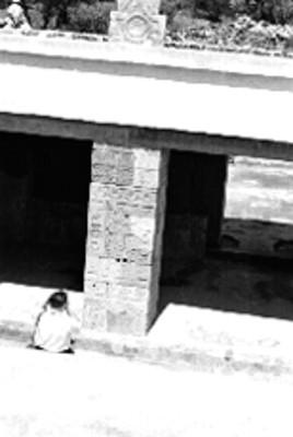 Columna en el Palacio de Quetzalpapálotl