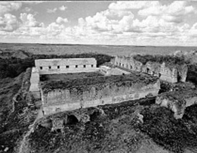 Vista aérea del Cuadrángulo de las Monjas, reprografía