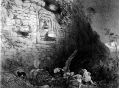 Lámina 25: Colosal Cabeza en Izamal, reprografía bibliográfica