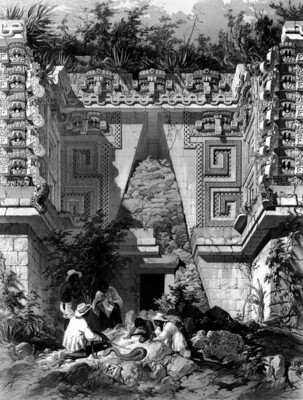 Lámina 10: Corredor arqueado, casa del Gobernador, reprografía bibliográfica