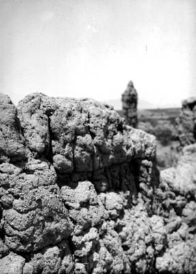Muro de adobe de la zona arqueológica de Casas Grandes