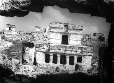 Fachada del Templo de los Frescos, Tulum