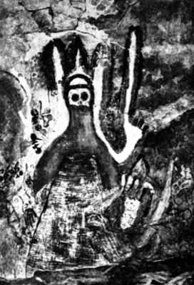 """Ilustración de """"Kaluro, el hombre iluminado"""", reprografía"""