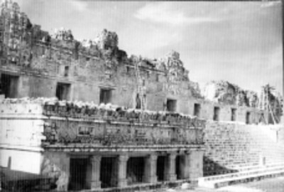 Frente del Templo de Las Palomas de Uxmal, reprografía