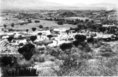 Vista de las ruinas de Yagul, panorámica