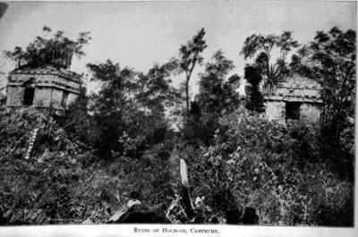 """Ruinas de Hochob, """"Ruins of Hoch, ob, Campeche"""", reprografía bibliográfica"""