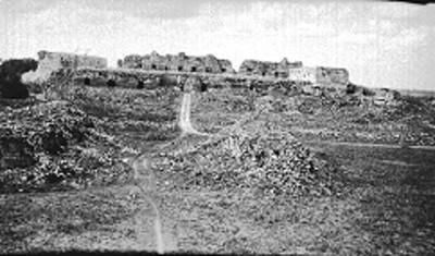 Vista del Cuadrángulo de las Monjas en proceso de reconstrucción