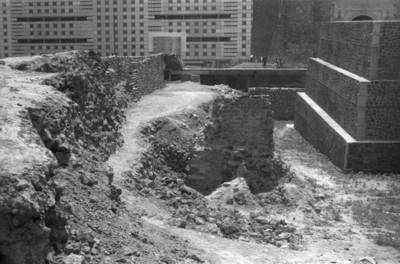 Vista de etapas constructivas correspondientes al Templo Mayor de Tlatelolco