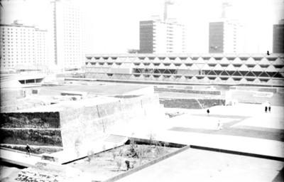 Panorámica de la zona arqueológica de Tlatelolco