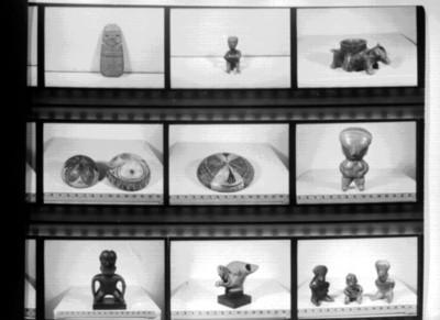 Vasijas policromadas, esculturas zoomorfas y antropomorfas, reprografía