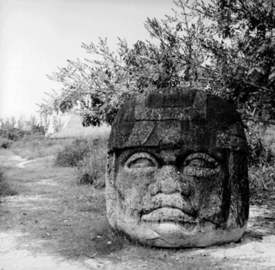 Detalle del monumento Q de Tres Zapotes