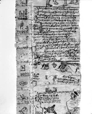 Códice Moctezuma, vista parcial de una de las láminas