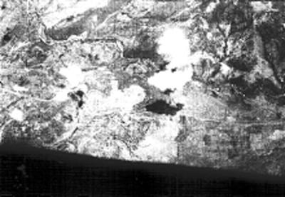 Vista aérea del sitio arqueológico de Xochicalco