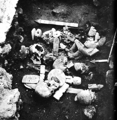 Hallazgo de un entierro secundario con ofrenda en las excavaciones realizadas en Santa Teresa