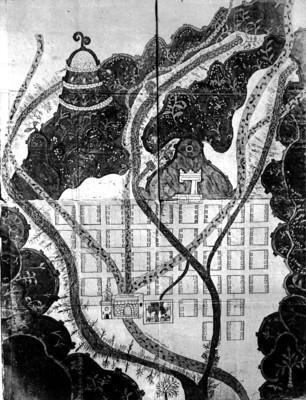 """""""Mapa del pueblo de Texupa, obispado de Oaxaca, 1579"""", reprografía bibliográfica"""