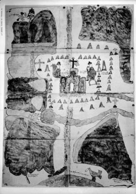 """Mapa de Xuchitepec, Obispado de Oaxaca 1579"", reprografía bibliográfica"