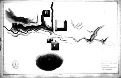 Ilustración de un plano de Palenque, reprografía