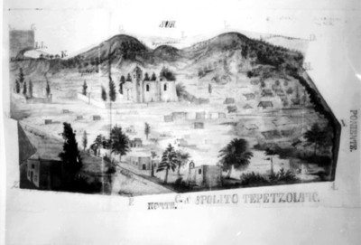 "Mapa de ""Ypolito Tepetzoltic [sic]"", reprografía"