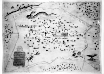 Mapa del pueblo de San Pablo Apetatitla, reprografía