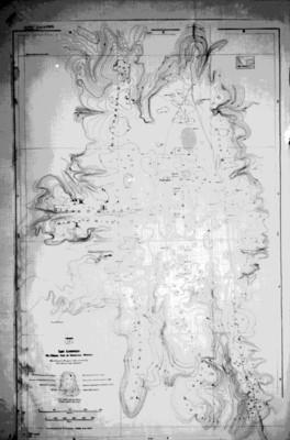 Mapa del sitio arqueológico de San Lorenzo Tenochtitlan, reprografía