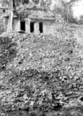 Vista de los Templos en la Acrópolis, antes de su restauración