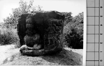 Altar N° 3 en La Venta, reprografía