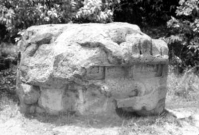 Vista de altar monolítico, reprografía