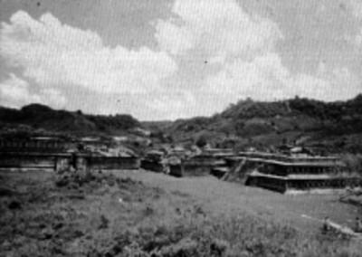 Vista de los Edificios A, B y C en Tajín chico