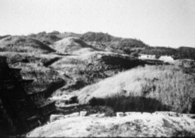 Vista parcial de la Pirámide de los Nichos