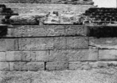 Vista de uno de los tablero de El Tajín